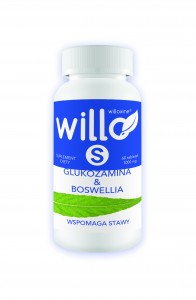 Willo S Glukozamina & Boswellia 60 tabletek - suplement diety